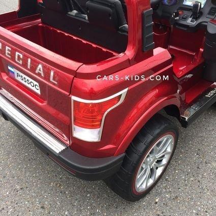 Электромобиль 4WD Range Rover XMX601 (Happer Superman) 2-х местный, красный (усиленный аккумулятор, резиновые колеса, кожа, пульт, музыка, глянцевая покраска)