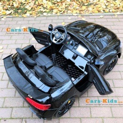 Электромобиль Mercedes-Benz GT R MP4 - HL289-4WD черный (сенсорный дисплей MP4, 2х местный, колеса резина, кресло кожа, пульт, музыка, кондиционер)